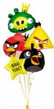 Букет Angry birds фольгированные шары